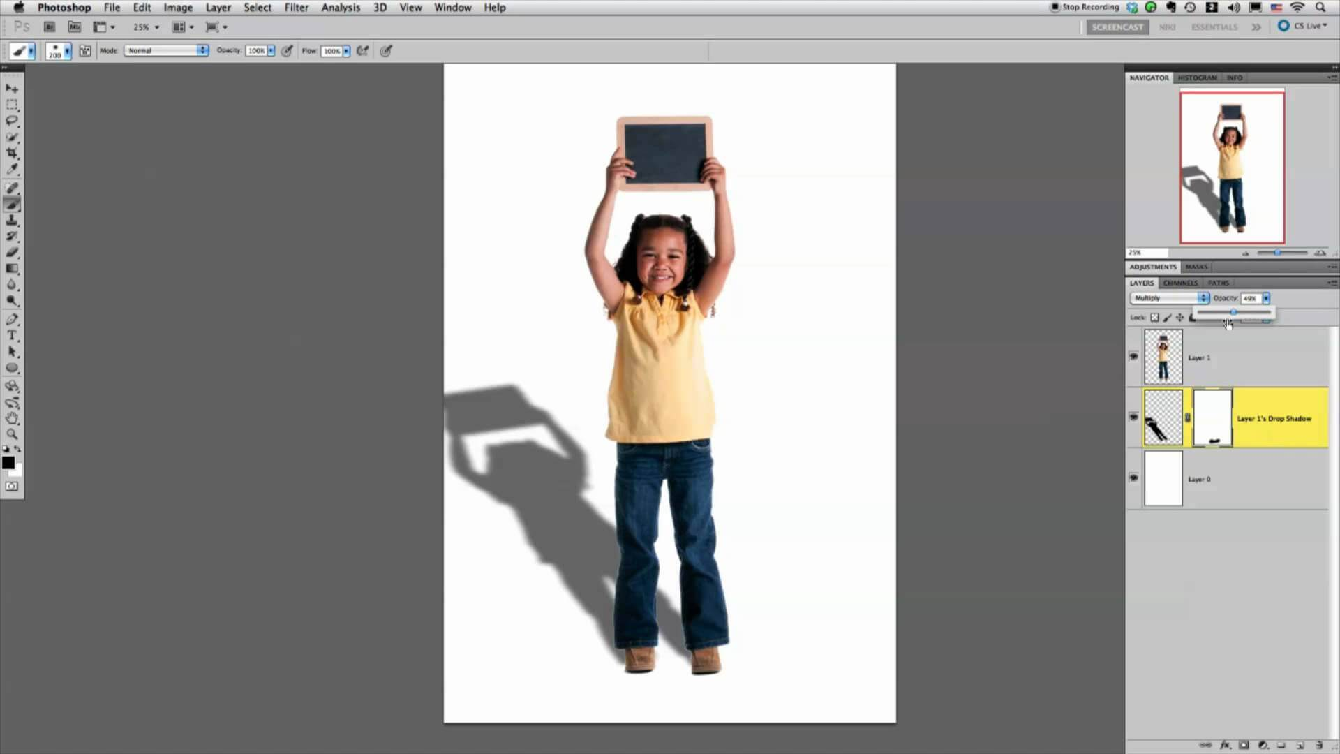Как сделать тень в фотошопе на фото